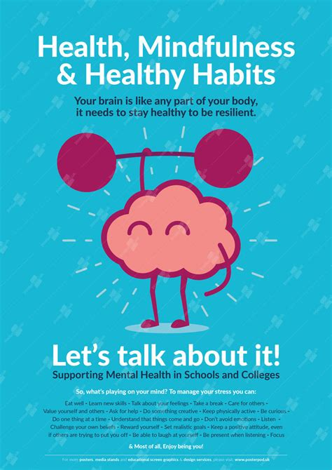 Mindfulness & Healthy Habits Poster | Supporting Mental ...