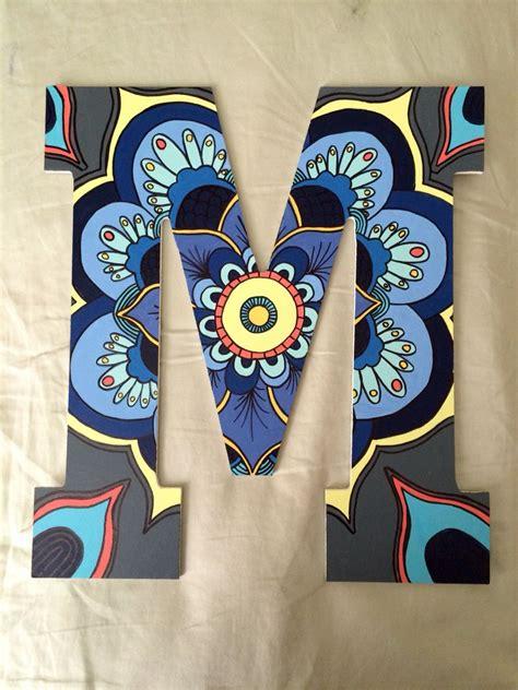 painted letter boho letter mandala sorority painted