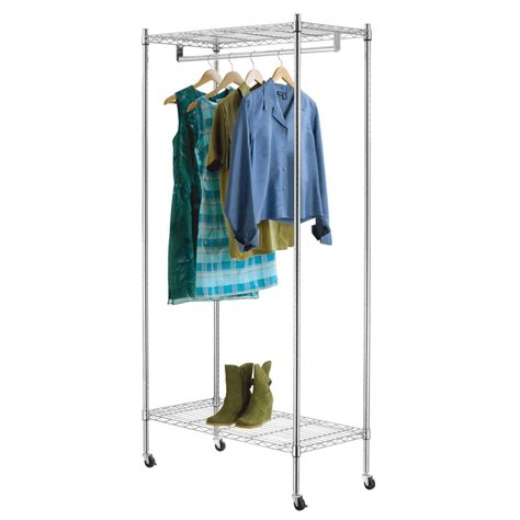 lowes garment rack shop style selections chrome steel garment rack at lowes