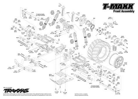 Traxxa T Maxx Steering Diagram by 49104 Front Assembly Traxxas
