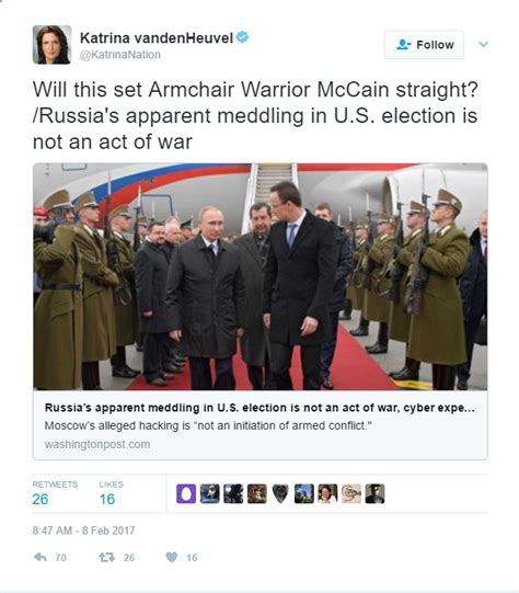 Armchair Warrior by Publisher Of Left Rag The Nation Calls Mccain An