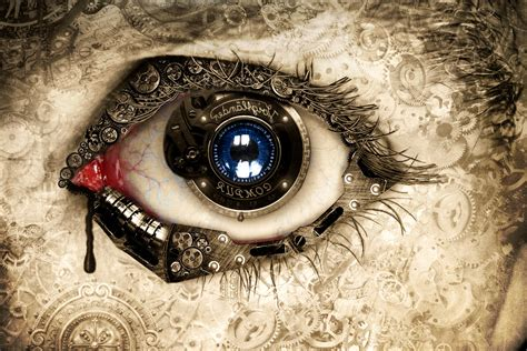 artwork fantasy art concept art eyes clockwork