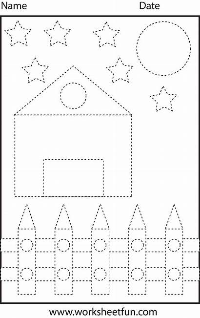 Tracing Shape Line Montessori Activities Diagram Colouring