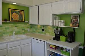 21 best kitchen backsplash ideas to help create your With kitchen colors with white cabinets with tissue paper wall art