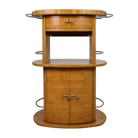 88% Off  Unknown Oval Wood Butcher Block Island Tables