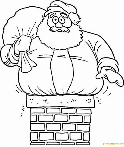 Santa Claus Coloring Christmas Pages Drawings Printable