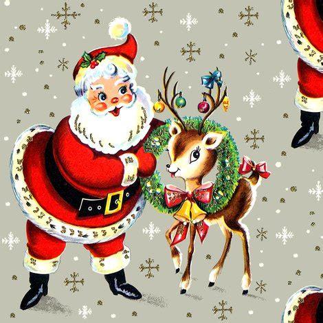 merry christmas santa claus deer wreaths baubles bows bells ribbons snowflakes snow