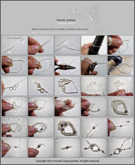 amorfia unique jewelry wire wrapped necklace free tutorial