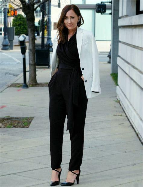 jumpsuit with blazer black jumpsuit with white blazer basic