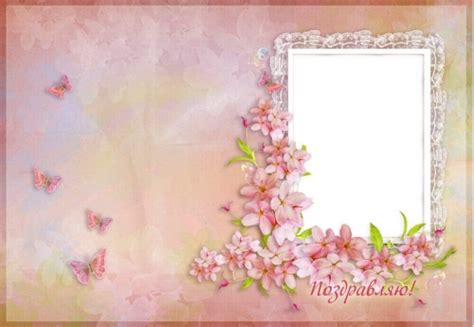 greeting bilateral photo card psd  soft pink