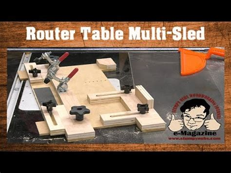 build  router table multi sled coping small parts
