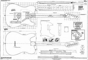 Rolled Plan To Build A Telecaster Electric Guitar For Diy Project Or Ideal Gift P040
