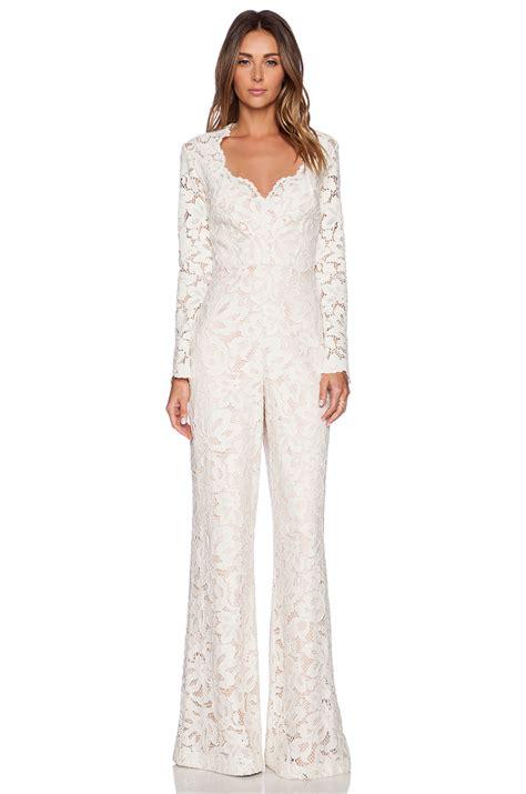 lace jumpsuit hyatt lace jumpsuit in ivory revolve