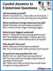 Careful Answers to 5 Interview Questions - qiktippix