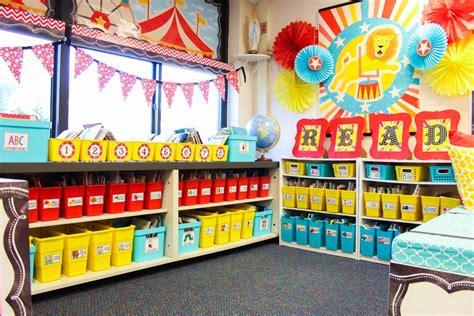 vintage circus kindergarten classroom