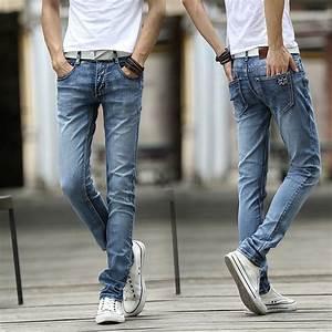 Aliexpress.com  Buy Long skinny Blue jeans Trousers men 2017 seasons menu0026#39;s casual jeans Washed ...