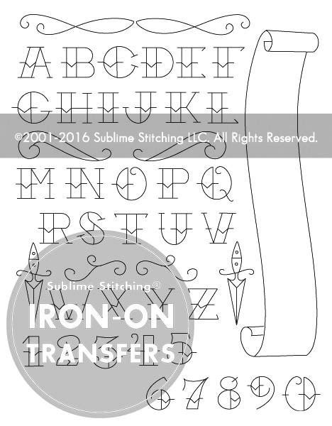 SMALL PACK Embroidery Patterns - TATTOO ALPHABET – Sublime Stitching