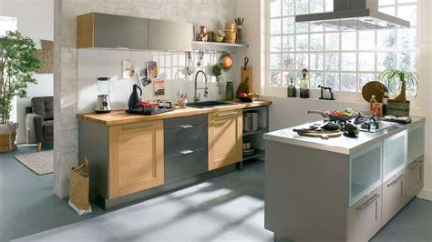 cuisine bois gris clair cuisine moderne conforama