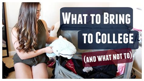 What To Bring To College! (and What Not To) Youtube