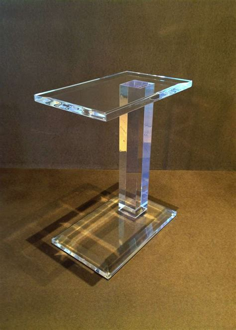 acrylic side table at 1stdibs