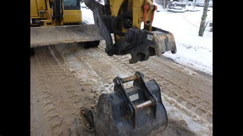 cat mini excavator quick coupler youtube