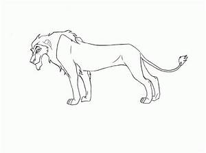Lion Outline - Kids Coloring