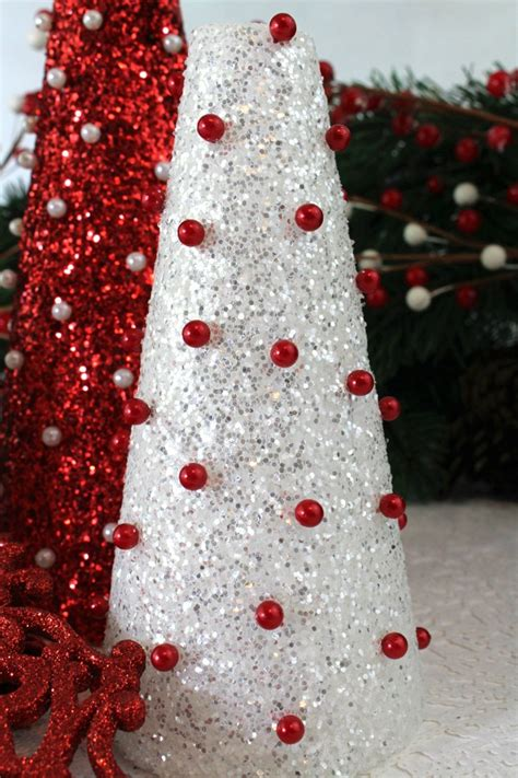 diy glitter christmas trees