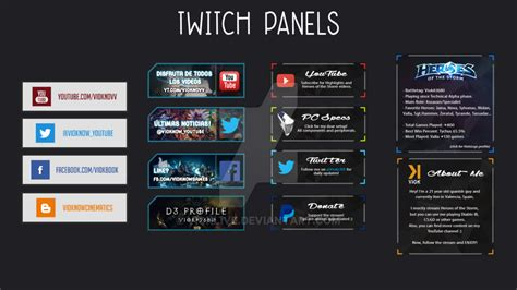 Twitch Pannels By Vioklive On Deviantart