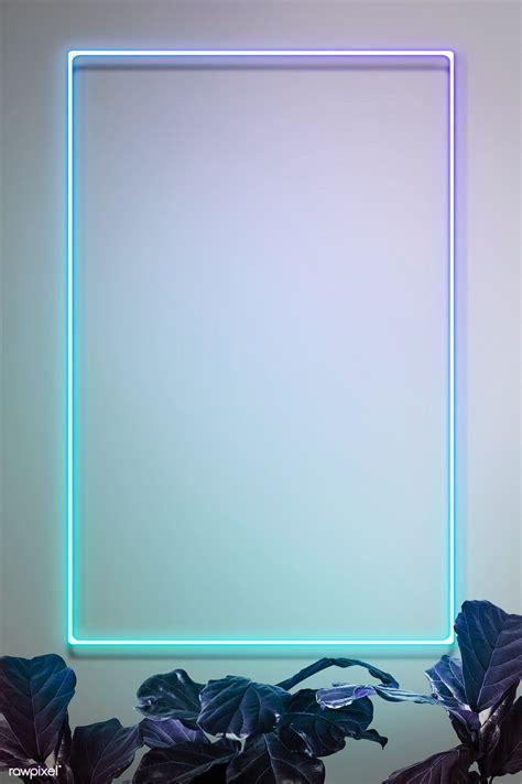 Download premium illustration of Green neon lights frame ...