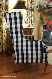 The slipcover maker custom slipcovers tailored to fit for Furniture slipcovers for wingback chairs