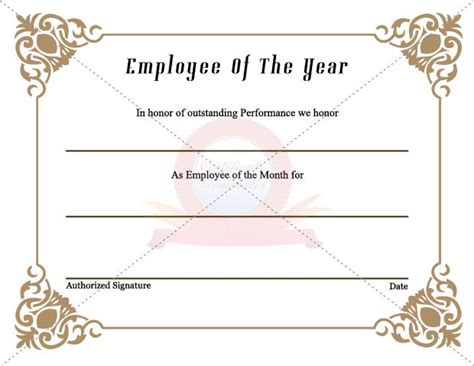 employee certificate images  pinterest