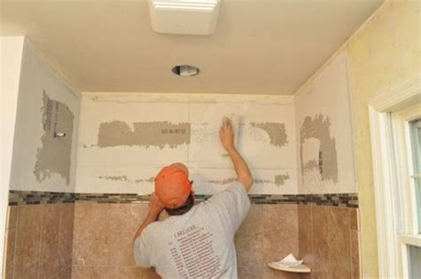 Bathroom Wall Building Materials by How To Tile A Bathroom Shower Walls Floor Materials