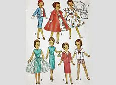Vintage 1950s60s Simplicity 21inch fashion doll clothes