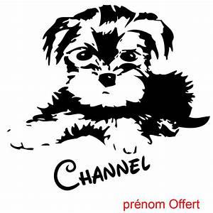 Autocollant Personnalisé Pour Voiture : sticker autocollant chien yorkshire personnalis animaux ~ Voncanada.com Idées de Décoration