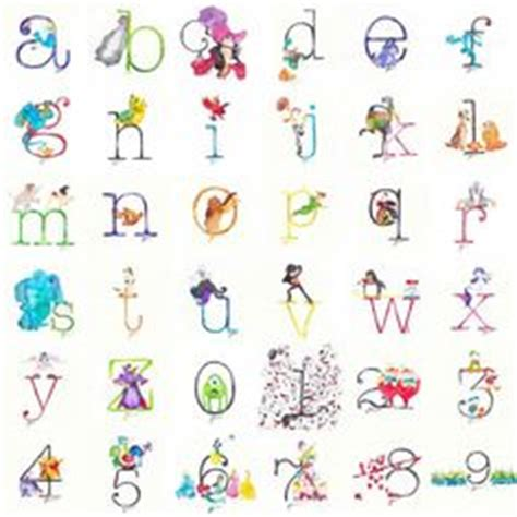 letters that start with z disney alphabet chart for the nursery wall decor abc 3343