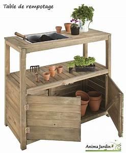 table de rempotage et semis en bois 2 portes jardipolys With travaux de jardinage pas cher