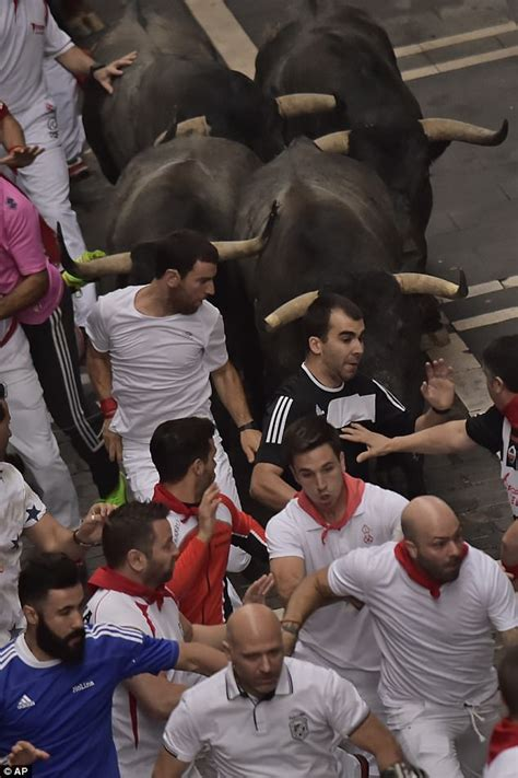 Man Hurled Into Air And Trampled By Bulls At Pamplona