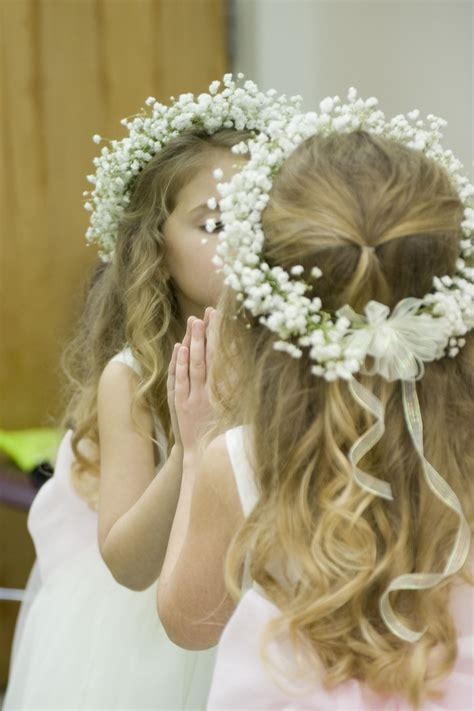 babys breath halo flower girl halo wedding