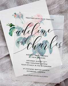 diy floral wedding invitations pipkin paper company With wedding invitations on vellum paper