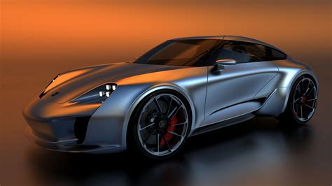 Turntable rendering of the gto concept by sasha selipanov, head of design at koenigsegg and raw design house. The Porsche 911 by way of Bugatti | FLATSIXES