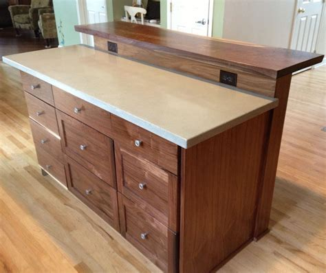 custom kitchen island  slab bar top   tooth