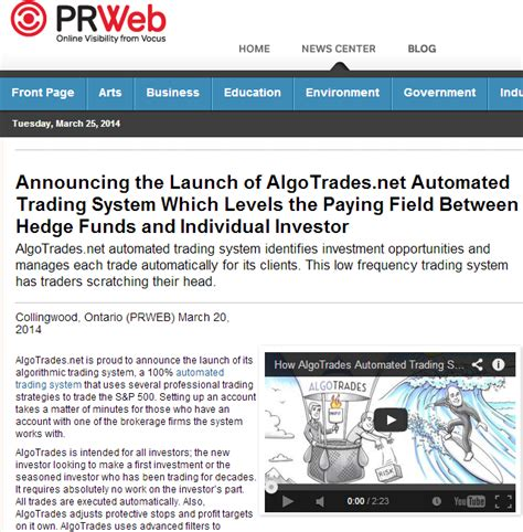 automated trading system announcing the launch of algotrades automated trading systems