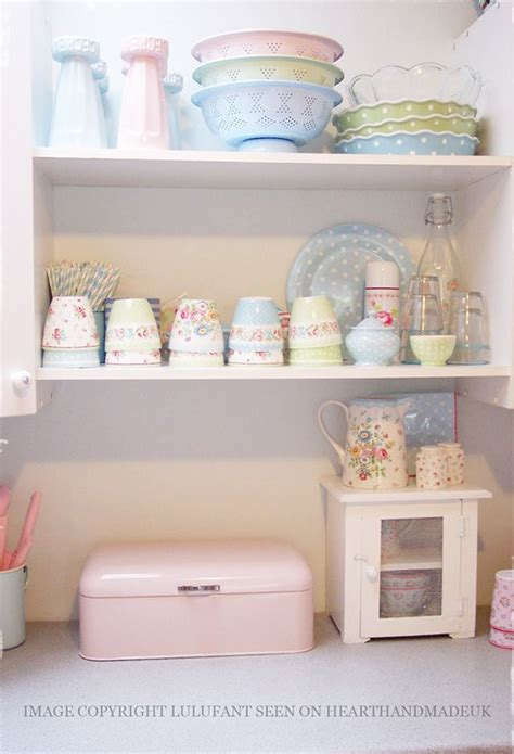 blue kitchen decor accessories pastel room colours in a glorious home 4824