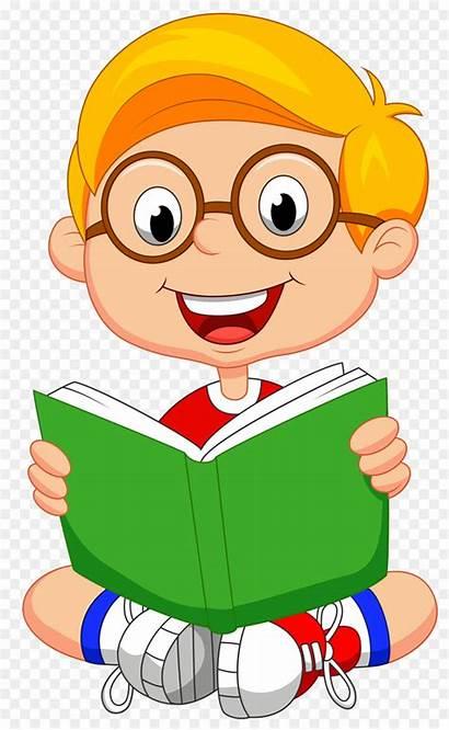 Reading Clipart Clip Boy Books Child Cliparts