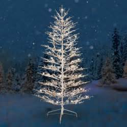ge pre lit 7 white winterberry artificial christmas tree dual color led lights walmart com