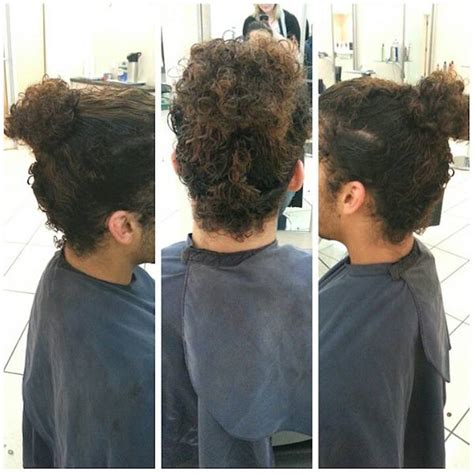 man bun hairstyle guide  curly hair men man bun hairstyle