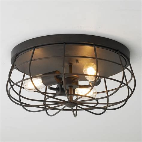 ceiling fan with cage light industrial cage ceiling light ceiling lights ceiling
