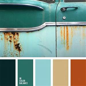best 25 rust color schemes ideas on pinterest With palette de couleur turquoise 5 shades of blue and brown color palette ideas