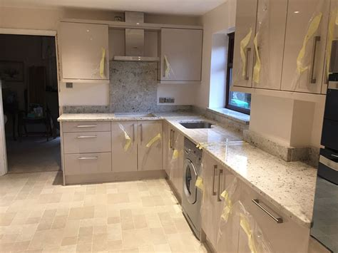 white kitchen cabinets with granite countertops colonial white granite countertops pictures cost pros