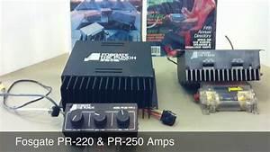 Vintage Fosgate Car Audio Amps - Pr 220 And Pr-250